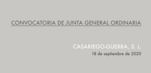 [Convocatoria] JUNTA GENERAL ORDINARIA. CG, SL